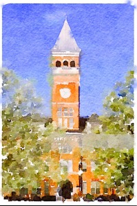 Clemson Water Color